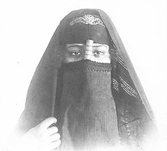 02_Egypt - Egyptian Woman Wearing Melaya, Boroo, Aroussa, and a Mandil (usbpanasonic) Tags: woman veil muslim islam egypt culture nile cairo nil egypte islamic  caire moslem egyptians egyptiens