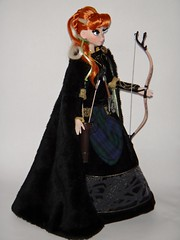 Coronation Anna LE 17'' Doll Wearing Celebration Merida's Outfit - Standing - Full Left Front View (drj1828) Tags: anna outfit celebration merida swap limitededition disneystore coronation 17inch le2500 le7000