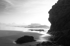 face rock (pat.netwalk) Tags: california light bw seascape nature contrast soft darkness shore fortbragg facerock copyrightbypatwwwnetwalkch