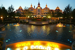 """(""""MihranKalaydjian"""") Tags: park travel paris france sign logo mouse hotel amusement child disney mickey tourists financial feature vaction finance vactions marnelavallee"""