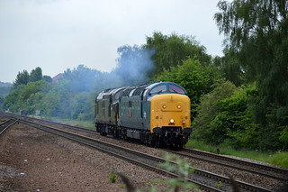 55002 & D6700 approaching Swinton with the 0Z55 Humberstone Road to York NRM, 27th May 2014.