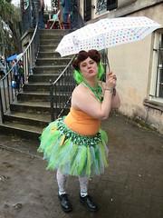 Woman in tutu with umbrella, St. Patrick's Day parade, Savannah, Georgia (Travel writer at KristineKStevens.com) Tags: savannah umbrellas stpatricksday