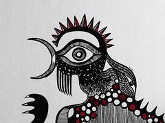 Ná-Negrura (Guilherme Kramer) Tags: barcelona brazil urban art animals illustration night ink design arte indian cock inner soul kramer ilustração guilherme