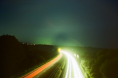 Long Exposure Light Trails - First Attempt (imogencallaway) Tags: longexposure light cars night lights lomo lca lomography long exposure cornwall traffic time trails vehicles bodmin a30