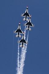 Transition (Skeeter Photo) Tags: show team air diamond formation demonstration f16 mkt inline thunderbirds transition usaf mn usairforce mankato avgeek kmkt minnesotaairspectacular skeeterphoto