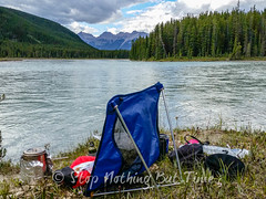 Big Bend Camp Hike (Stop Nothing But Time) Tags: camping mountains forest rockies outdoors jasper hiking trails hike adventure trail alberta rockymountains athabascariver trangia canadianrockies mountainhardwear bigbendcampground fortresslaketrail northernrockies