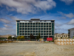 JFK (Steve Taylor (Photography)) Tags: jfk graffiti tag building office green newzealand nz southisland canterbury christchurch topfloor