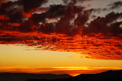 Colorful fiery sunset over the mountains (Mila Che) Tags: cloud orange sky sunset dusk sun nature red twilight dawn sunlight yellow beautiful color light fiery background beauty heaven dramatic outdoor view evening landscape meteorology majestic heat bright colorful scenic horizon stratosphere gold dark mountains glow atmosphere sundown afterglow