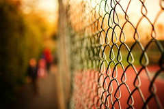 Debut (083/365) (iratebadger) Tags: nikon nikond7100 d7100 nikkor nikonphotography lightroom light person perspective project365 path primelens england 35mm evening shadows sunlight fence blur bokeh outside outdoors orange outdoor outoffocus focus f18 vignette family people