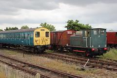 20160717 049 Mangapps. BR Class 302 DTS E75033. Vulcan Foundry 0-4-0DM AD226 Works No. 5261 Built 1945 (15038) Tags: railways trains br britishrail electric emu class302 am2 mangapps dts 75033 302201 diesel locomotive industrial 040dm ad226 5261 shunter