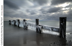 Cold Saturday Morning At Fifty Point (jwvraets) Tags: fiftypoint beach groyne ice monochrome lakeontario longexposure 10stopndfilter extremeneutraldensityfilter cold winter opensource rawtherapee gimp nikon d7100 nikkor1224m
