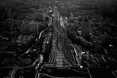 Paris (Gwenaël Piaser) Tags: paris parigi france francia îledefrance unlimitedphotos gwenaelpiaser canon eos 6d canoneos eos6d canoneos6d fullframe 24x36 reflex rawtherapee 85mm 85mmf18 canonef85mmf18usm ef85mmf18usm ef85mm usm ef85mmusm canonef85mm118usm prime station railway gare train montparnasse tower wb nb bw blackandwhite noiretblanc monochrome february 2017 février february2017 1000