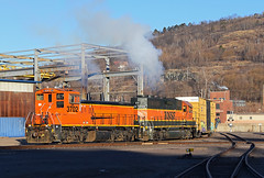 Morning Exhaust (Missabe Road) Tags: bnsf 3702 mp15 job116 2124 gn