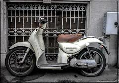 Milano scooter abbandonato 2017 (alberto martucci) Tags: streetphoto milanoitaliaitalymilanmailamd leica digilux2