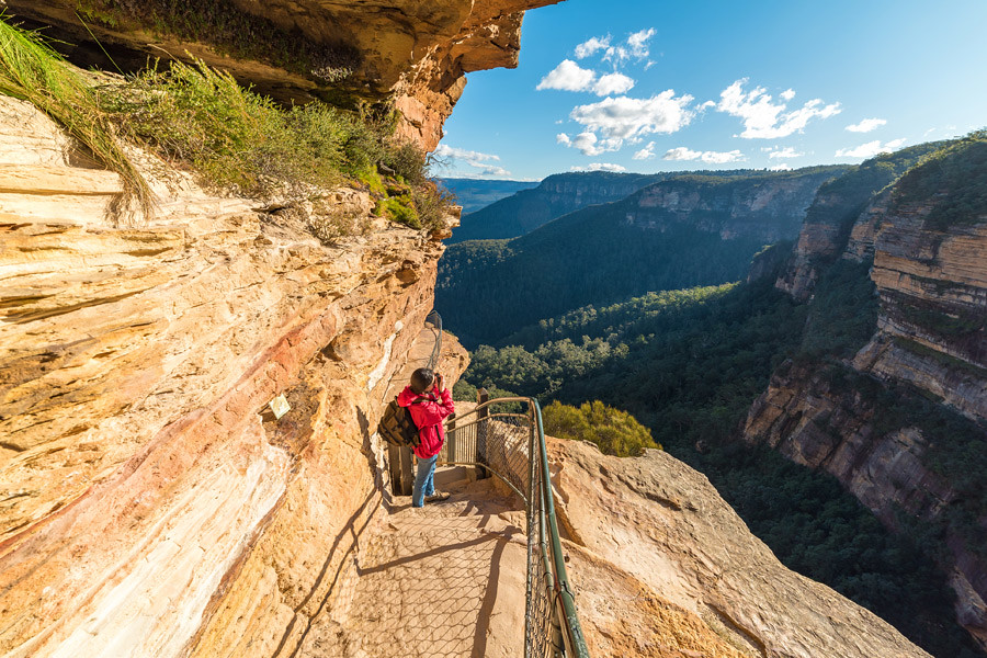 The Blue Mountains near Sydney offers hundreds of kilometres of trails