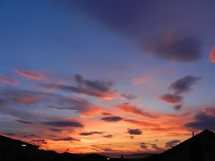 Sunset Patterns, Inverness, March 2017 (allanmaciver) Tags: sunset clouds inverness city highlands evening silhouettes scattered patterns glow colours allanmaciver