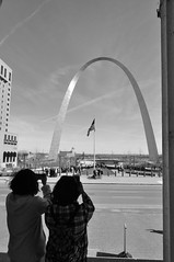 St.louis Arch Tourists (shock264) Tags: stlouis arch archway gateway west east south tourist tourism tourists city missouri blackandwhite ad advertise picture photo photography landscape outoor doorway travel street usa unitedstates flag monochrome