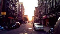 Far far away. (Linh H. Nguyen) Tags: life street city sunset urban newyork lowereastside htcone
