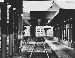 (JayCass84) Tags: camera urban blackandwhite bw beautiful train vanishingpoint blackwhite track pittsburgh pennsylvania awesome traintracks tracks explore flick pgh urbanphotography vanish 412 steelcity instagram instagramapp vscocam vscocamapp