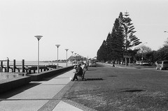 Newcastle, NSW, Aus . July 2013 (adrianhermanu) Tags: vacation bw white black film newcastle 50mm minolta lucky nsw analogue aus