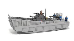 LCM III by Brian F with my Sherman (Florida Shoooter) Tags: lego navy ww2 landingcraft ldd m4sherman lcmiii lddtopovray