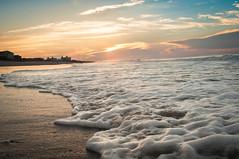 Seafoam Sunset (E-Scape Photography) Tags: ocean sunset sea summer sun love nature beautiful clouds sunrise sunrays majestic seafoam