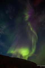Aurora borealis in Faskrudsfjordur (*Jonina*) Tags: longexposure sky night j iceland 500views sland northernlights auroraborealis ntt himinn 5000views 3000views 2500views norurljs 100faves 50faves 4000views explored 7000views 25faves fskrsfjrur faskrudsfjordur august27th2013