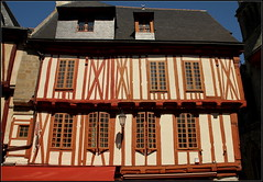 Old half-timbered house (catb -) Tags: house france building architecture brittany bretagne vannes fa halftimbered maisoncolombages