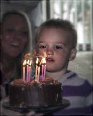 Birthday cousin (AshTree25) Tags: candles child flames blowing birthdaycake 51 l