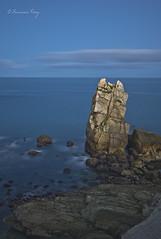 los Urros de Liencres. (Francisco J. Prez.) Tags: naturaleza nature night mar spain paisaje nocturnas playas cantabria pentaxart pentaxk5 franciscojprez