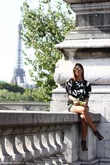 Veronica Falco, Paris. (Marie-Paola Bertrand-Hillion) Tags: paris fashion photography eiffeltower blogger toureiffel parisfashionweek fashionweek streetstyle pfw fashionblogger veronicafalco givemefashion