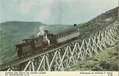 Famous Cog Train on Jacobs Ladder (tico_manudo) Tags: ferrocarriles railways usa vintage postalesantiguas newhampshire mtwashington locomotives cogtrain jacobsladder
