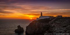 Sunset in Sagres (Laura Escudero Jimnez) Tags: sunset sea sun sol portugal faro atardecer coast mar algarve backlighting sagres
