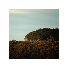 Crest (David in NC) Tags: blue trees light mountain color fall ridge parkway