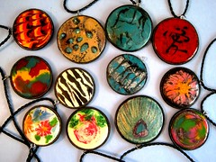 Twice melted Necklaces (miriamjoy1) Tags: necklace wax twice melted gourdnecklace waxdesign wwwmiriamjoycom