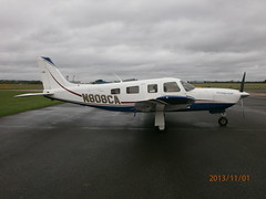 N808CA Piper 32 Saratoga (Aircaft @ Gloucestershire Airport By James) Tags: james airport saratoga gloucestershire piper 32 lloyds egbj n808ca