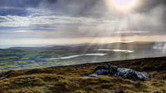 There's a certain slant of light, On winter afternoons [Explored December 2nd 2013] (fearghal breathnach) Tags: light clouds canon photography photo view photos lakes rays wicklow visa roundwood djouce explored vartry fearghalbreathnach httpswwwfacebookcomfergphotos