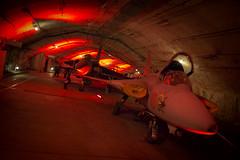 Red Alert (The Hamster Factor) Tags: red museum lights fighter display sweden gothenburg jet nuclear bunker bomb alert aeroseum