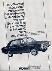1966 ROOTES ARROW - HILLMAN HUNTER BORG WARNER AUTOMATIC GEARBOX ADVERT (Midlands Vehicle Photographer.) Tags: borg 1966 warner automatic advert hunter arrow hillman gearbox rootes