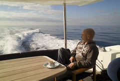 Some down time (Rich3591) Tags: blue sea boat mediterranean wake flat calm reflective delivery challengeyouwinner sunseeker82
