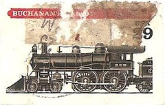 USA Buchanan train 29 cents (sftrajan) Tags: train technology unitedstates stamps 19thcentury stamp locomotive timbre commemorative postagestamp philately sello usstamps briefmarke  francobollo  historictrain americantrains    buchanantrain
