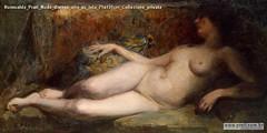 Romualdo Prati Nudo disteso olio su tela 71x131cm Collezione privata