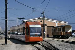 Alicante Metropolitan TRAM No. 3804 at Alicante depot on 17 March 2005 (A Scotson) Tags: spain tram alicante depot tramway lamarina localtransport trammetropolitanodealicante