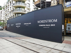 Retail, Nordstrom at Americana, Vinyl Banner with Wood Trim