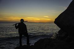 Almost Afro samurai (SW23CT (CamsDigitalCanvas.com)) Tags: ocean california sunset beach water silhouette pch sword cody katana camarillo venturacounty hwy1 cdc nikond7100 thephotographizer