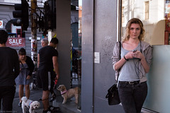 Untitled (Ranga 1) Tags: dogs girl canon candid fitzroy australian streetphotography australia melbourne streetscene victoria explore suburbs brunswickstreet davidyoung innersuburbs innermelbourne ef24105mmf4lusm canoneos5dmarkii