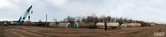 panorama1 (feverpictures) Tags: up wagon pull lift diesel crash accident cargo class gas disaster pick 06 excavator fail derail derailment shunt bdz