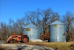 Farm (Adventurer Dustin Holmes) Tags: tractor farm silo missouri farms silos tractors ozarks 2014 gsi lacledecounty