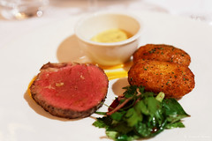 20140209-55-Eye fillet with chat potatoes in Swansea.jpg (Roger T Wong) Tags: food swansea dinner restaurant beef australia tasmania piermont degustation sigma50mmf28exdgmacro sigma50macro hollandaisesauce eyefillet canoneos6d chatpotatoes