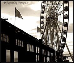 On the Water (Rayven Song Photography) Tags: seattle travel architecture washington pacificnorthwest ferriswheel rayvensongphotography